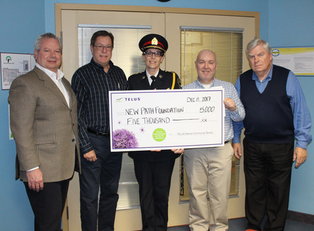 NEW PATH RECEIVES A $5,000 TELUS COMMUNITY FUND GRANT