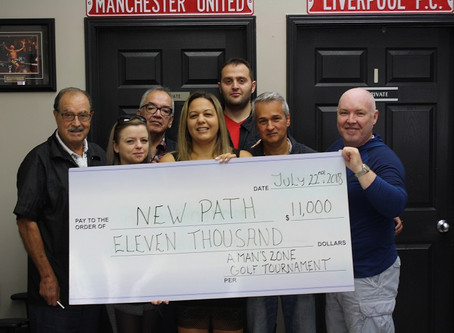 A MAN'S ZONE BARBERSHOP DONATES $11,000 TO NEW PATH FOUNDATION