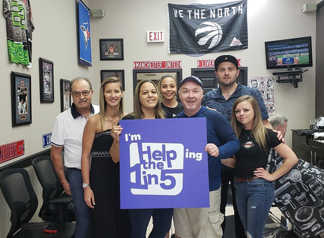 A Man's Zone Barbershop Donates  $12,200 To Help the 1 in 5