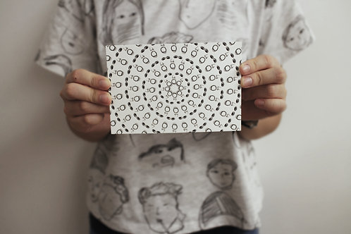 Postcard | around around | 活版印刷