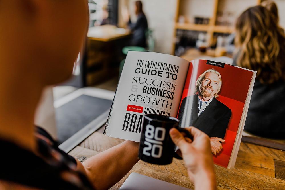 Empresarios, emprendedores, empresarios exitosos, consejos de empresarios, Richard Branson