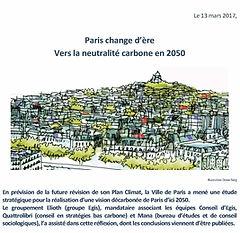 Communiqué de presse - publication de l'étude Paris Neutre en carbone 2050