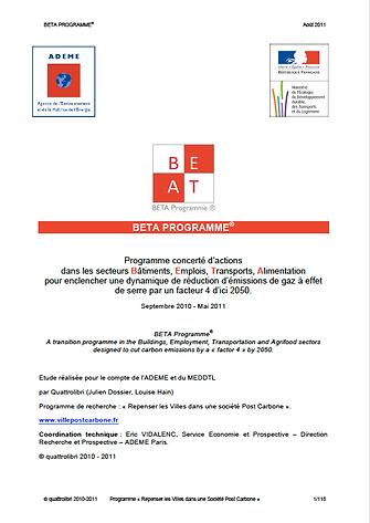 BETA programme - recherche quattrolibri post carbone