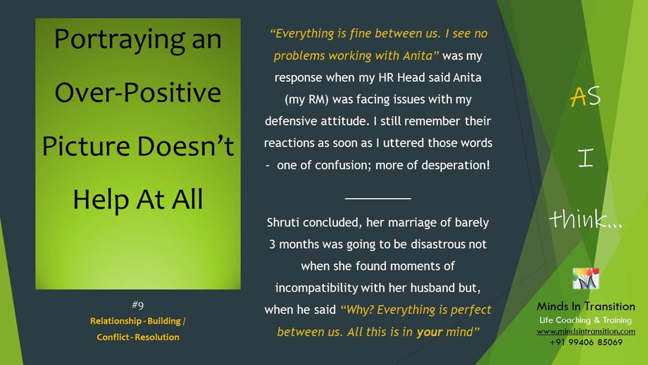 #9 Portraying Over-Positivity Doesn't Help At All