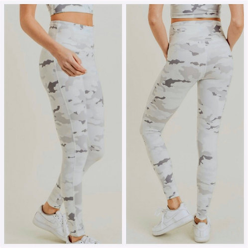 Snow Camo High Waist Leggings