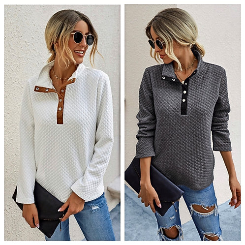Button Down Loose Sweater