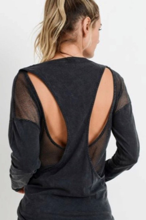 Mesh Cut-Out Back Top