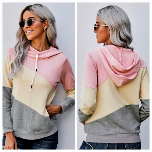 Pastel Color Block Pullover