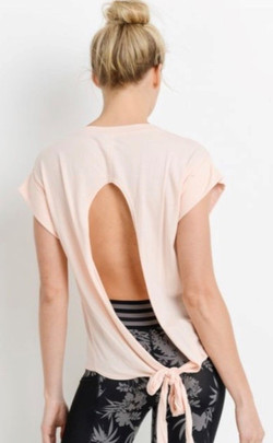 Blush Tie Back Cut-Out Top.2