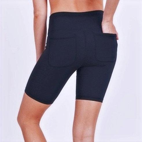 Back Pocket High Waist Biker Shorts