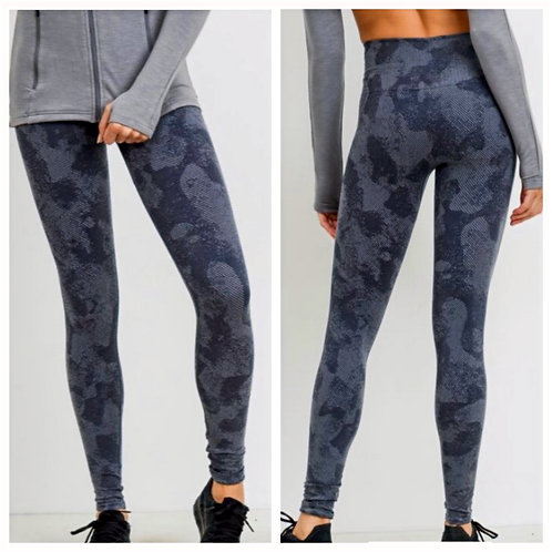 Striped Camo High Waist Seamless Leggings