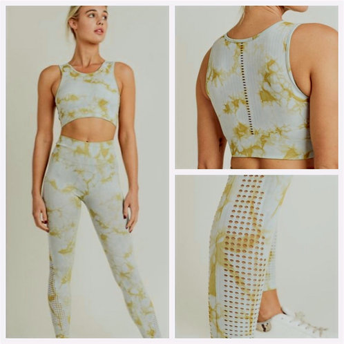Tie-Dye Perforated Seamless Set
