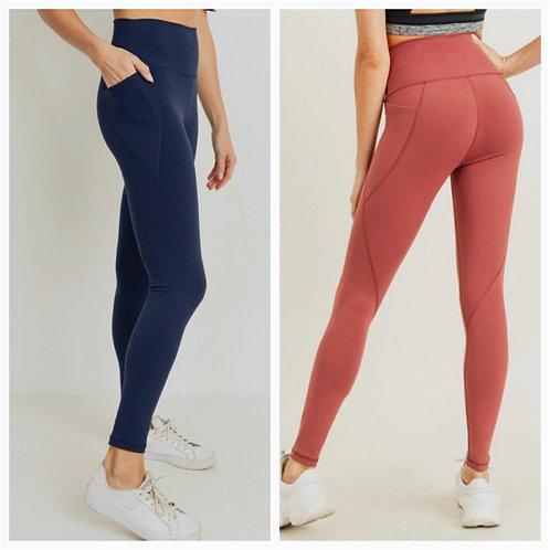 Essential Solid High Waist Leggings