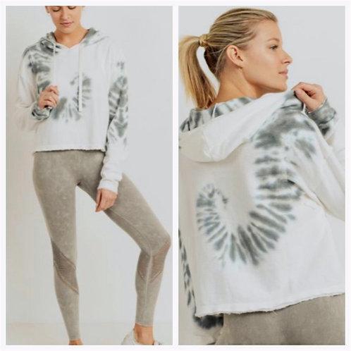 Swirl Tie Dye Boxy Cropped Pullover