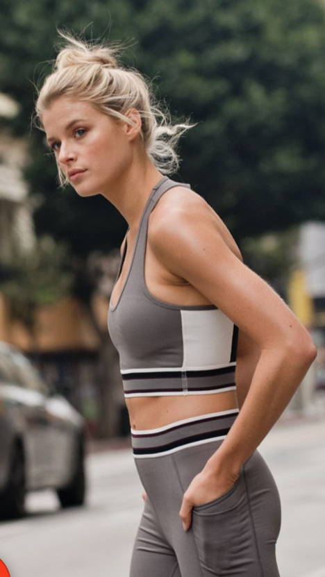 X Racerback Colorblock Sports Bra.