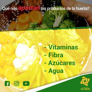 NUTRIENTES EN LOS ALIMENTOS DE LA HUERTA