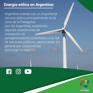 Energía eólica en Argentina.