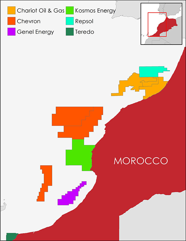 Morocco, Oil, Gas, Concession, SDX Energy, Sound Energy, Chariot Oil & Gas, Eni