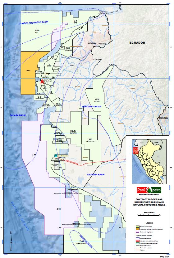 Peru, Peru permit map, Perupetro, Oil, Gas, exploration, petroleum, IN-VR