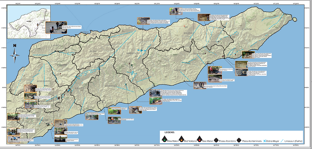 Timor-Leste geology, geological map, ANPM, 2nd Licensing Round, IN-VR