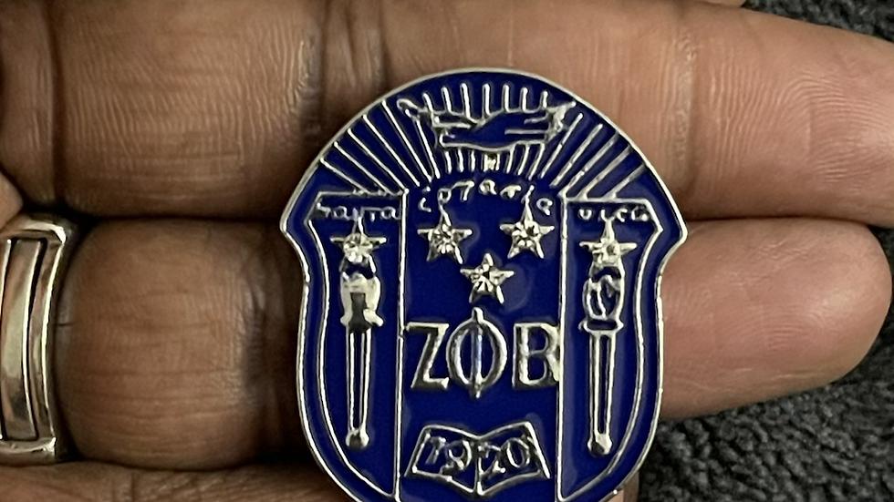 ΖΦΒ Shield Pin (Regular Size)