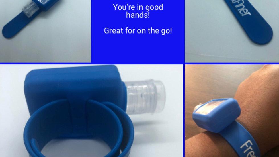 Hand Sanitizer Silicone Slap Bracelet +30ml Bottle