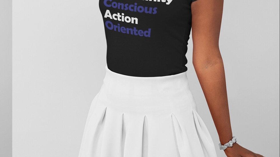 Women's Fit Motto T-Shirt (Blk)