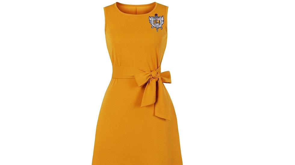 ΣΓΡ Shielded Tie-Front Dress (Pre-Order)