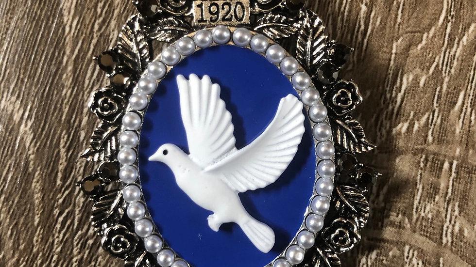 Vintage Style Dove Brooch