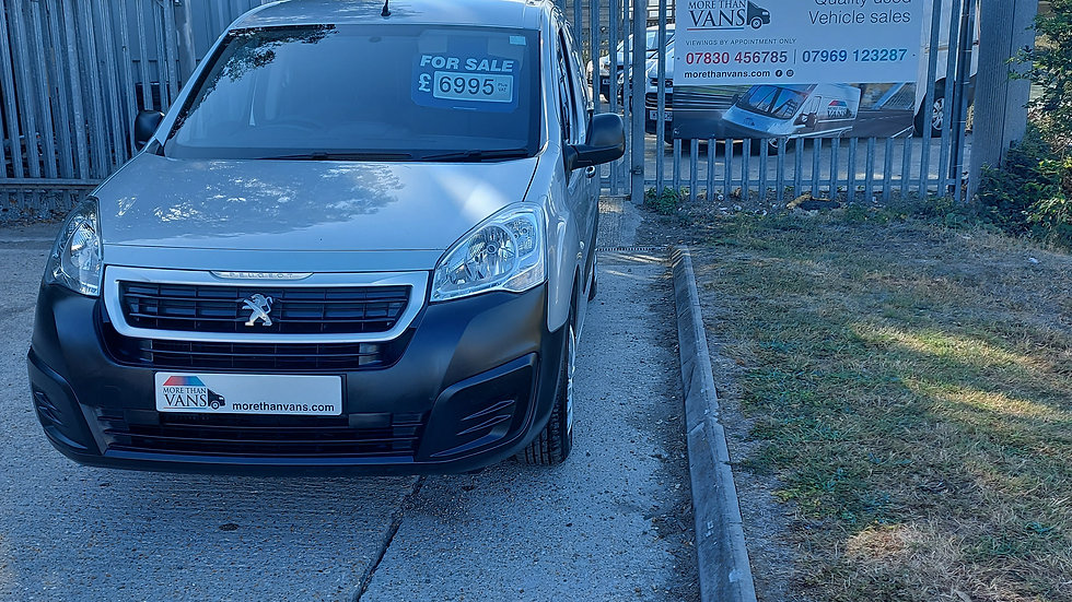 2017 Peugeot Partner 1.6 HDI 3 seater euro 6