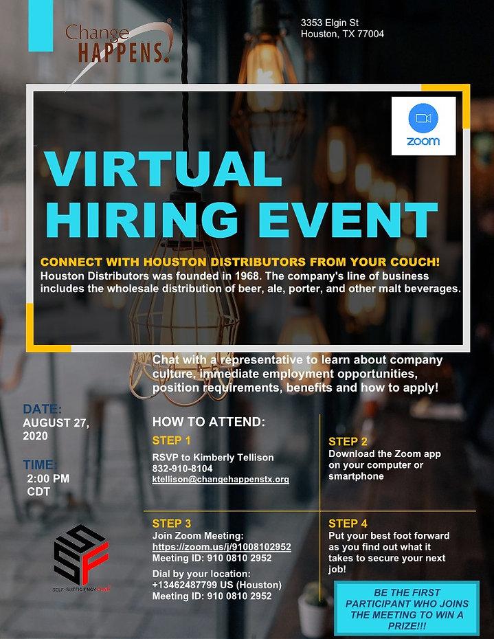 Virtual Hiring Event - Houston Distribut