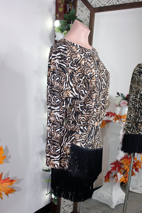 Latin Animal Print dress