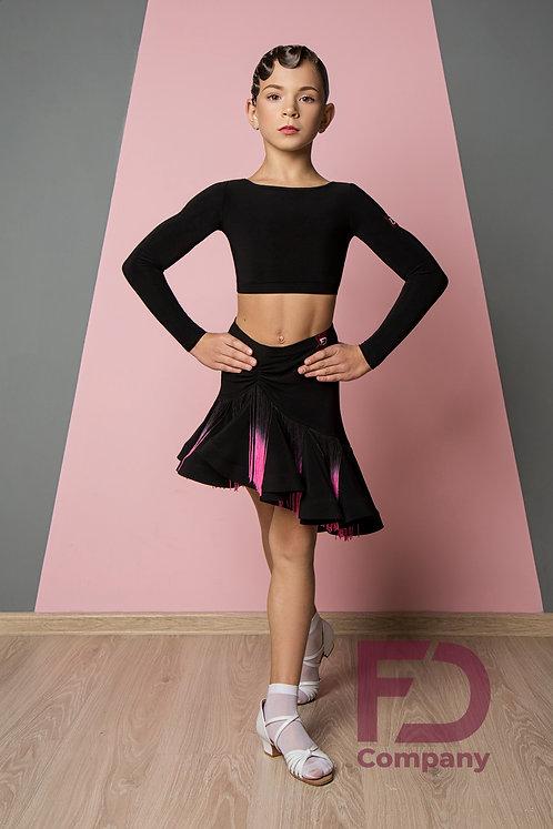Full skirt with fringe.