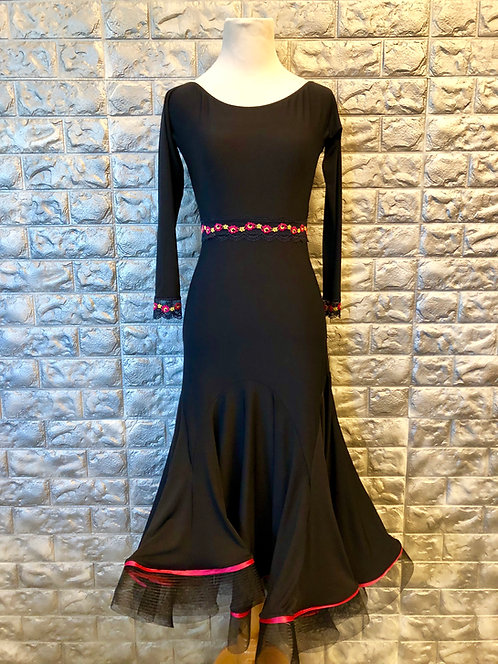 Black with Pink Standard Dress