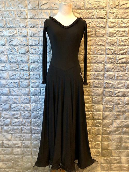 Black with Frills Standard Dress