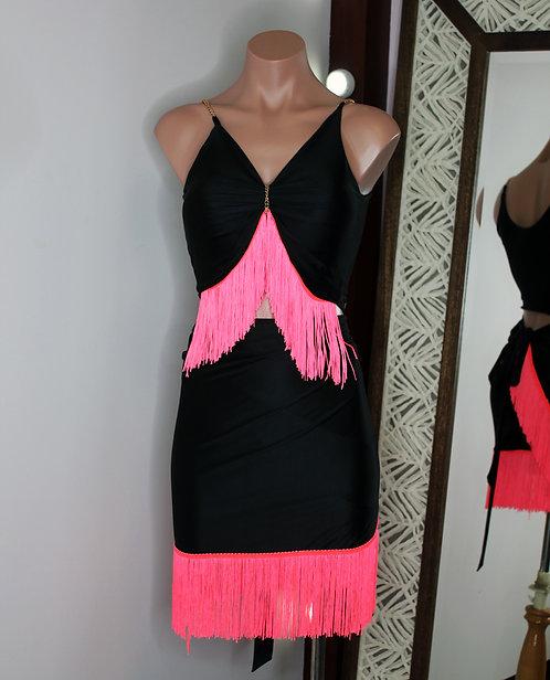 Pink fringe set