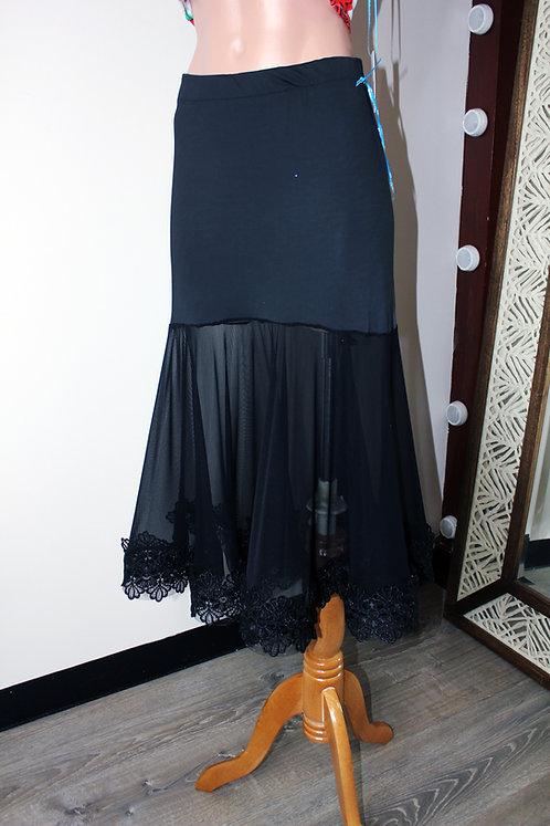 Lace-trim Standard Skirt