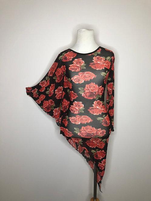 Red Rose Mesh Dress