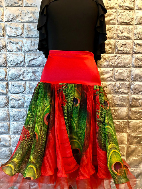 Red Peacock Standard Skirt