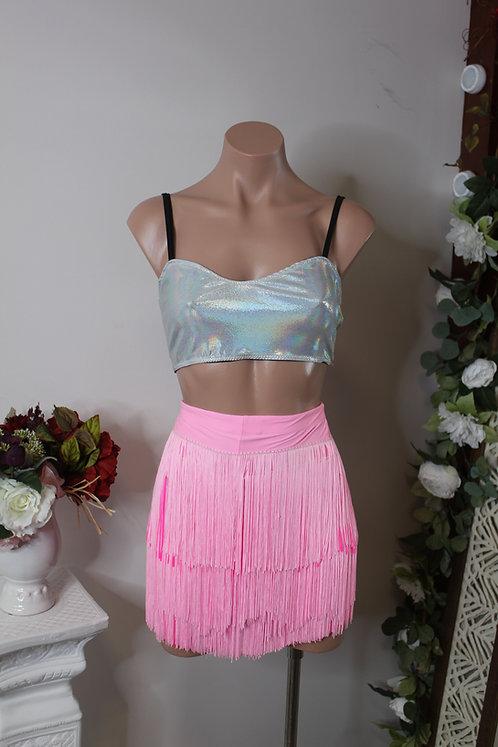 Pink Fringe Shorts