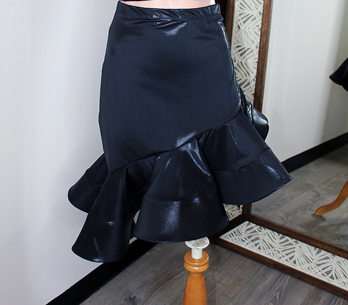 Drawstring Faux Leather Skirt
