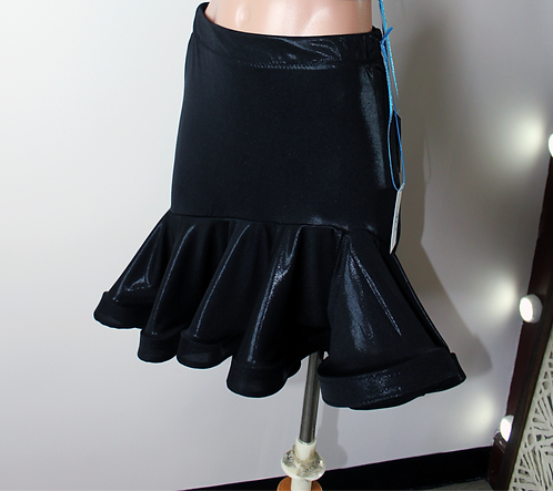 Faux Leather Latin Practice Skirt