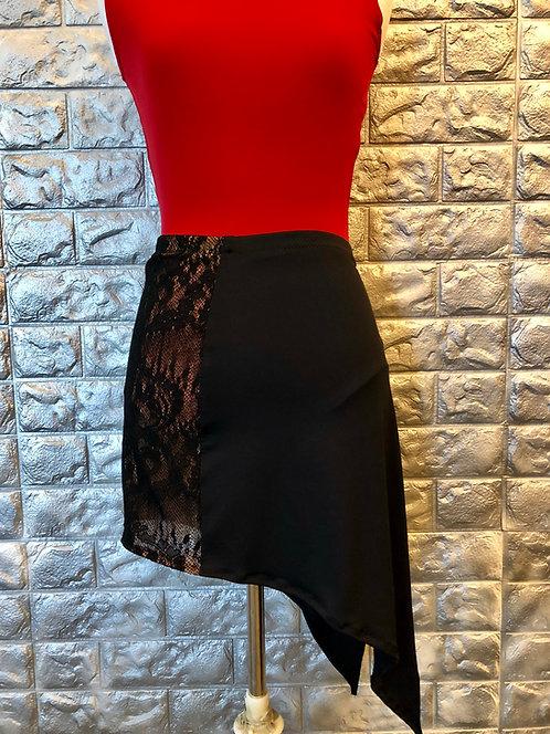 Asymmetrical Lace Side Latin Skirt