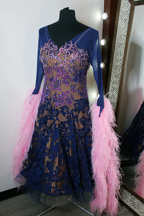 Blue and Pink Lace Standard