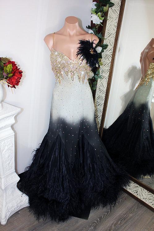 Classy Ombre Dore Dress