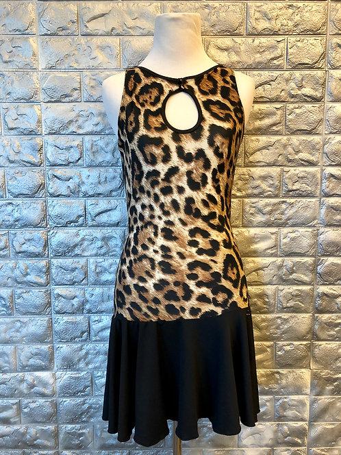 Leopard Print Latin Dress