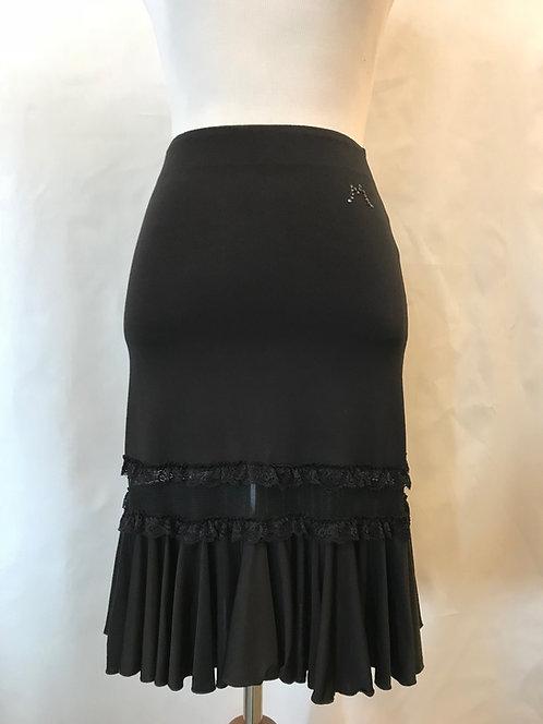 Mesh Cutout Latin Skirt