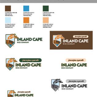 InlandCape Rice Company Logo Variations