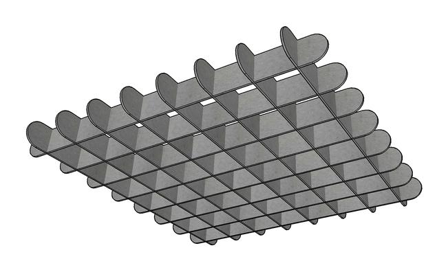 J2 PET Felt Capsule Cloud Grid