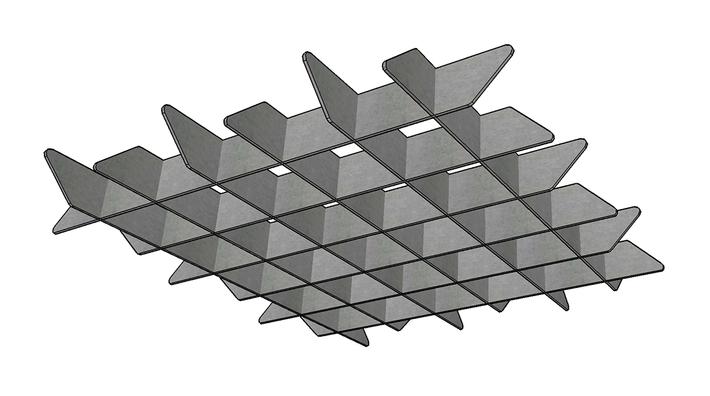 J2 PET Felt Blade Cloud Grid - Option B.